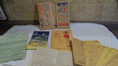 VTG MOBIL OIL GAS U.S. ROUTE 30 CHICAGO AAA MOTOR CLUB 1950's 10 LOT