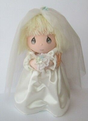 "Precious Moments Applause Doll of Month June Bride on Stand 11"" Tall Vintage"