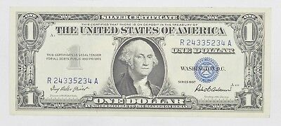 Crisp - 1957 United States Dollar Currency $1.00 Silver Certificate *418