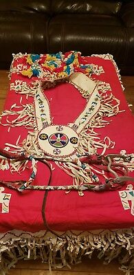 Vintage Handmade Beaded Equestrian Native American Horse Costume