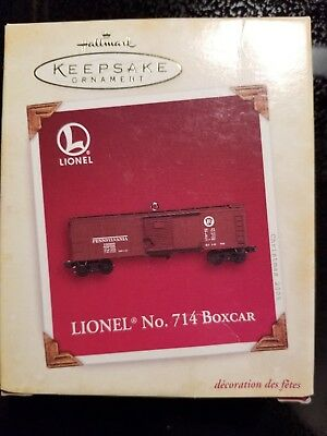 HALLMARK Keepsake Ornament LIONEL No. 714 Boxcar 2005 Train NIB