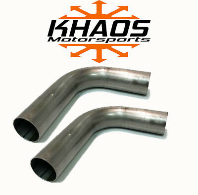 "1.75"" 1-3/4"" 90 Degree 304 Stainless Mandrel Bend Exhaust Tubing 2 Pack 16ga"