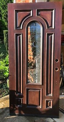 Solid Wood Mahogany Entry Door Slab