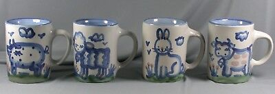 4 MA Hadley Country Scene Mugs Cups