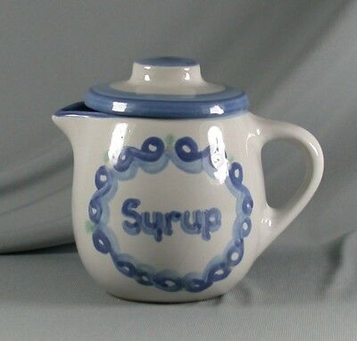 MA Hadley Country Scene Covered Syrup Pitcher