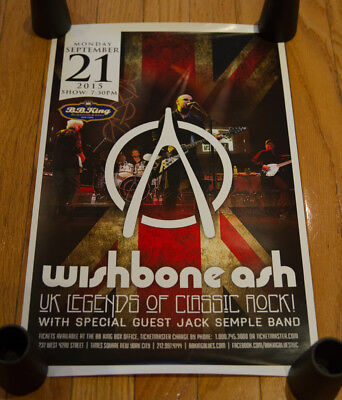 WISHBONE ASH Concert Poster, Setlist, Photo Pass + Pro Shot Gig Photos