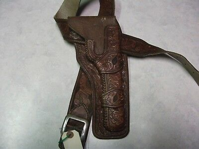 vintage matching holster and belt,shelton and payne