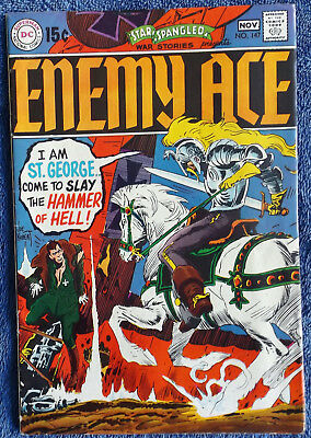 Star Spangled War Stories #147 - Enemy Ace! A Grave in the Sky! Nice copy!