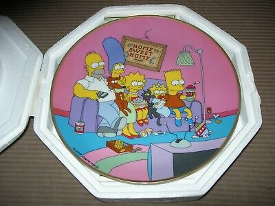 The Simpsons Collector Plate -  A Family for the 90's - Franklin Mint