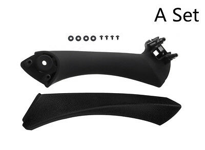 Black Right Side Inner Door Panel Handle +Outer Pull Trim Cover for BMW E90 328i