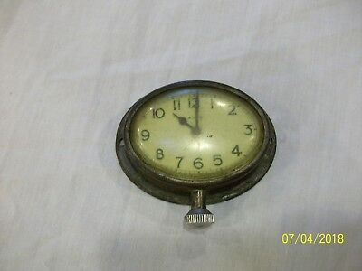 Vintage Small The New Haven Clock Co. Pocket Watch Form Wind Up Clock