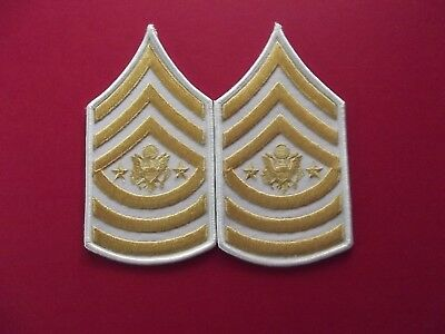 US Army - E-10 Sergeant Major of the Army Chevrons Gold/White for dress uniform
