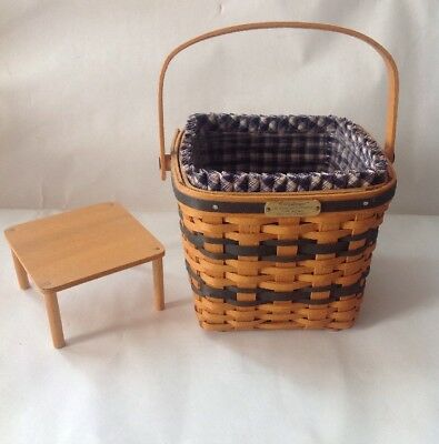 Longaberger JW Collection 1999 Edition Miniature Two Pie Basket Liner Protector