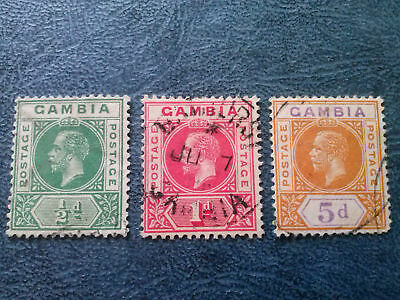 Gambia 1912 King George V  Used