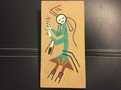 Vintage Southwest Native American  Navajo Sand Painting - Rainbow