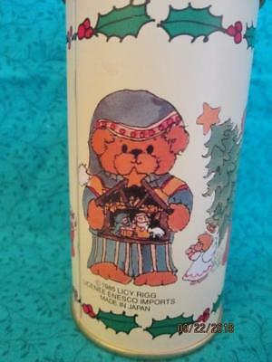 Vintage 1985 Lucy Rigg Enesco Tin Canister Christmas Teddy Bears EUC Licy Japan