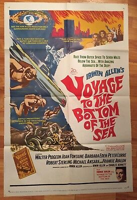 1961 - VOYAGE TO THE BOTTOM OF THE SEA - ORIGINAL MOVIE POSTER 27x41 1 Sheet