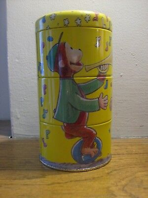 Curious George Collectible Twisting Tin Stacking Canister ~ Schylling