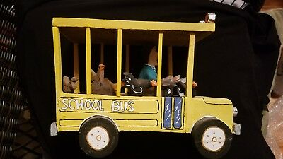 Vintage Navajo Folk Art School Bus Native American Indian