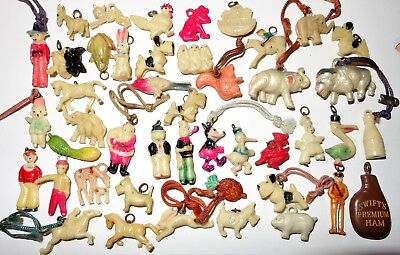 Lot Vintage Celluloid Charms Cracker Jack Charm Premiums Prizes~Mickey Mouse