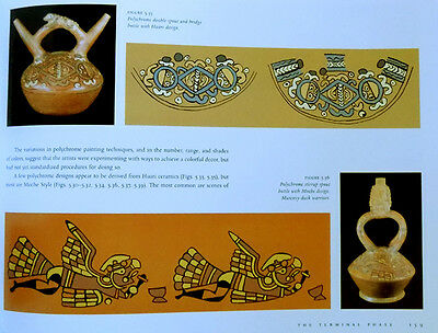 Ancient Peru Moche Fineline Painting Ceramics Art Jewelry Sipan Tombs XL 1000Pix