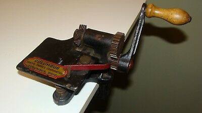 Antique Vintage COLUMBUS Coated Fabrics Corp Cast Iron PINKING MACHINE
