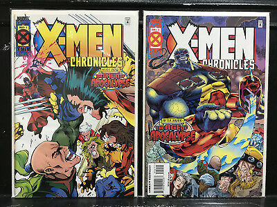 COMPLETE X-Men Chronicles #1 2 (1995 Marvel) Age of Apocalypse - Shipping Deal!