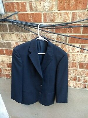 fe007753a 36S Hugo Boss Eistein Sigma Black stripes 100% Wool Mens Suit EUC USA Coat  only