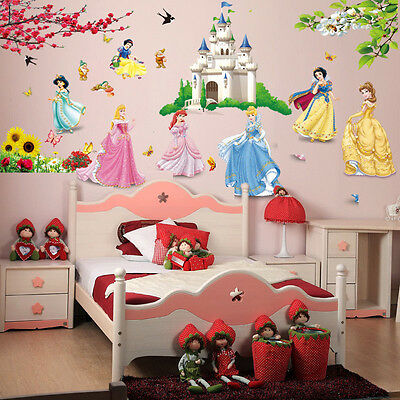REMOVABLE PRINCESS CASTLE Wall Sticker Wall Decal Kids Room Home ...