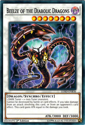 Yugioh! Beelze of the Diabolic Dragons - LEHD-ENB36 - Common - 1st Edition Near