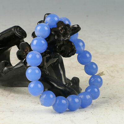 Chinese Hand-carved Natural Jade Bead Bracelet RS012