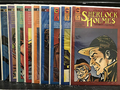 Run of 9 Sherlock Holmes #1 2 3 4 5 6 7 8 9 (1989 Eternity Malibu) Shipping Deal