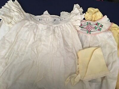 Small Antique Lot Of Baby Clothes Lovely
