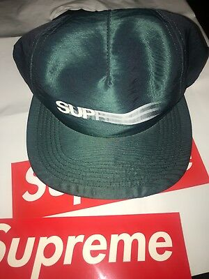 bd70b3786e3 SUPREME SS16 MOTION Logo Iridescent 5-panel Cap Teal Box Logo ...