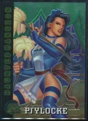 1995 X-Men Ultra All-Chromium Trading Card #96 Psylocke as The French Maid