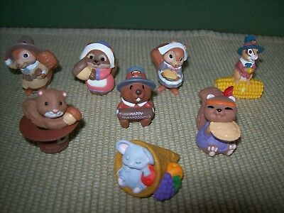 Hallmark Merry Miniatures  Thanksgiving  Lot of 8  New with Price stickers