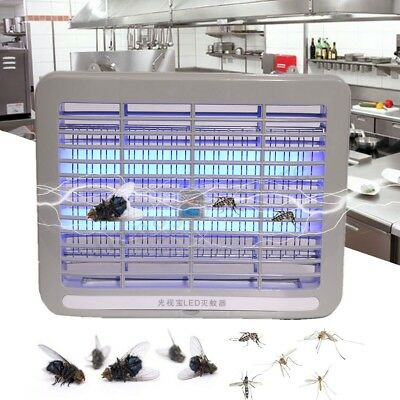 220V LED Electronic Restaurant Home Mosquito Insect Killer Bug Fly Zapper