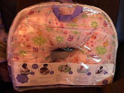 Use in packaging, Boppy Bare Naked Pillow, w Miracle Middle stretch panel, Pink