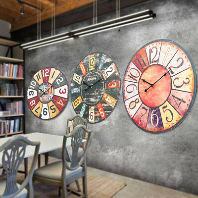 58cm 23'' Extra Large Wooden Wall Clock Ancient Modern Lacquer Surface Art