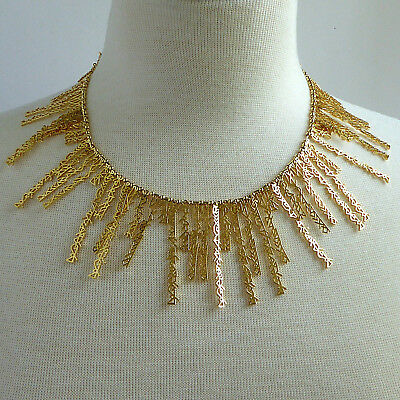 Fallon Hieroglyph Egyptian Collar The Mummy Necklace Gold Plated New Condition