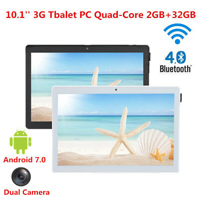 10.1inch 3G Tablet PC 32GB Android 7.0 Quad-Core WiFi BT 4.0 Dual Camera Phablet