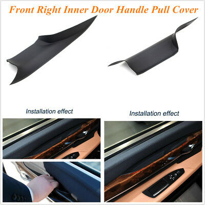 Black Plastic Front Right Inner Door Panel Handle Pull Cover For BMW 730 740 750