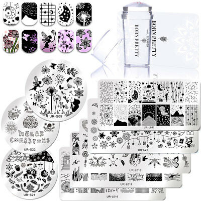 3pcs/lot Nail Art Stamping Plates Silicone Nail Stamper Scraper for Stamp Polish
