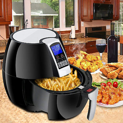 Electric Air Fryer W/ 8 Cooking Presets, Temperature Control, Timer 1500W