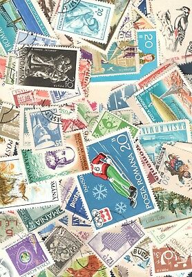 Romania Lot Of 25 Stamps In Envelope No Doubles Free Shipping