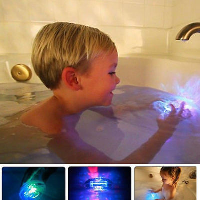 Waterproof Bathroom Tub LED Light RGB Colors Changing Kids Toys In Bath Time IEG