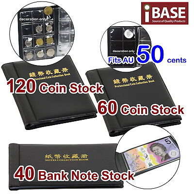 Coin Banknote Album Holder Storage Collection Collecting Stock Pocket Penny Book