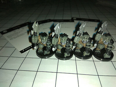 4x Tanarukk Orc + Karten D&D Dungeons & Dragons Pathfinder Giants of Legend #55