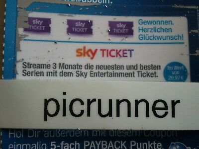 Sky Entertainment Ticket für 3 Monate Streaming im Wert von 29,97 €
