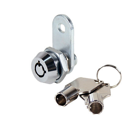 """Tubular Cam Lock With 3/8"""" Cylinder, Chrome, Keyed Different - 4 Pack"""